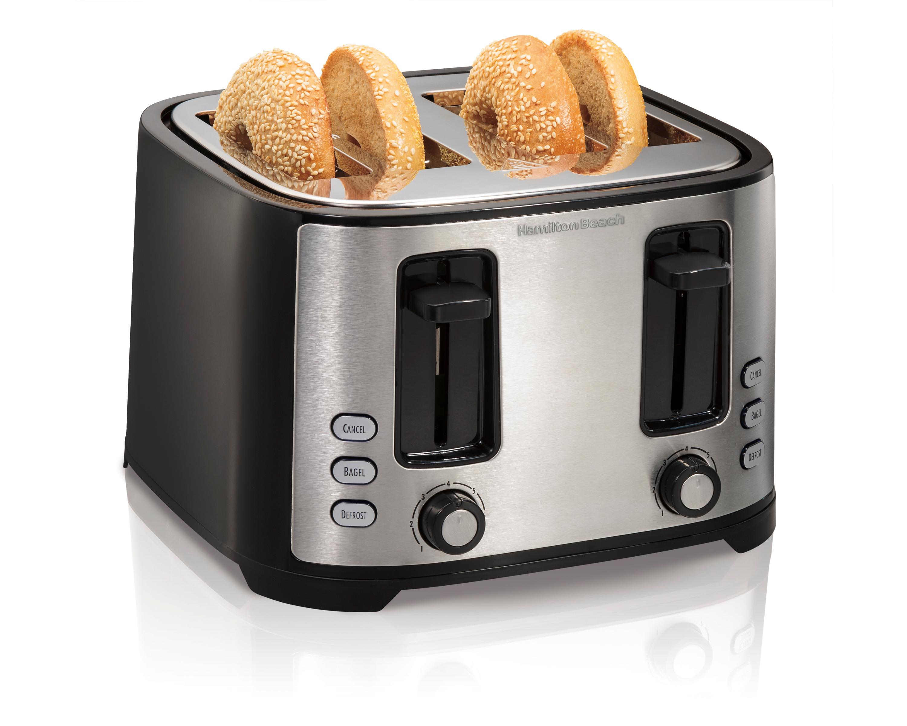 Amazon Com Hamilton Beach Extra Wide 4 Slice Slot Toaster