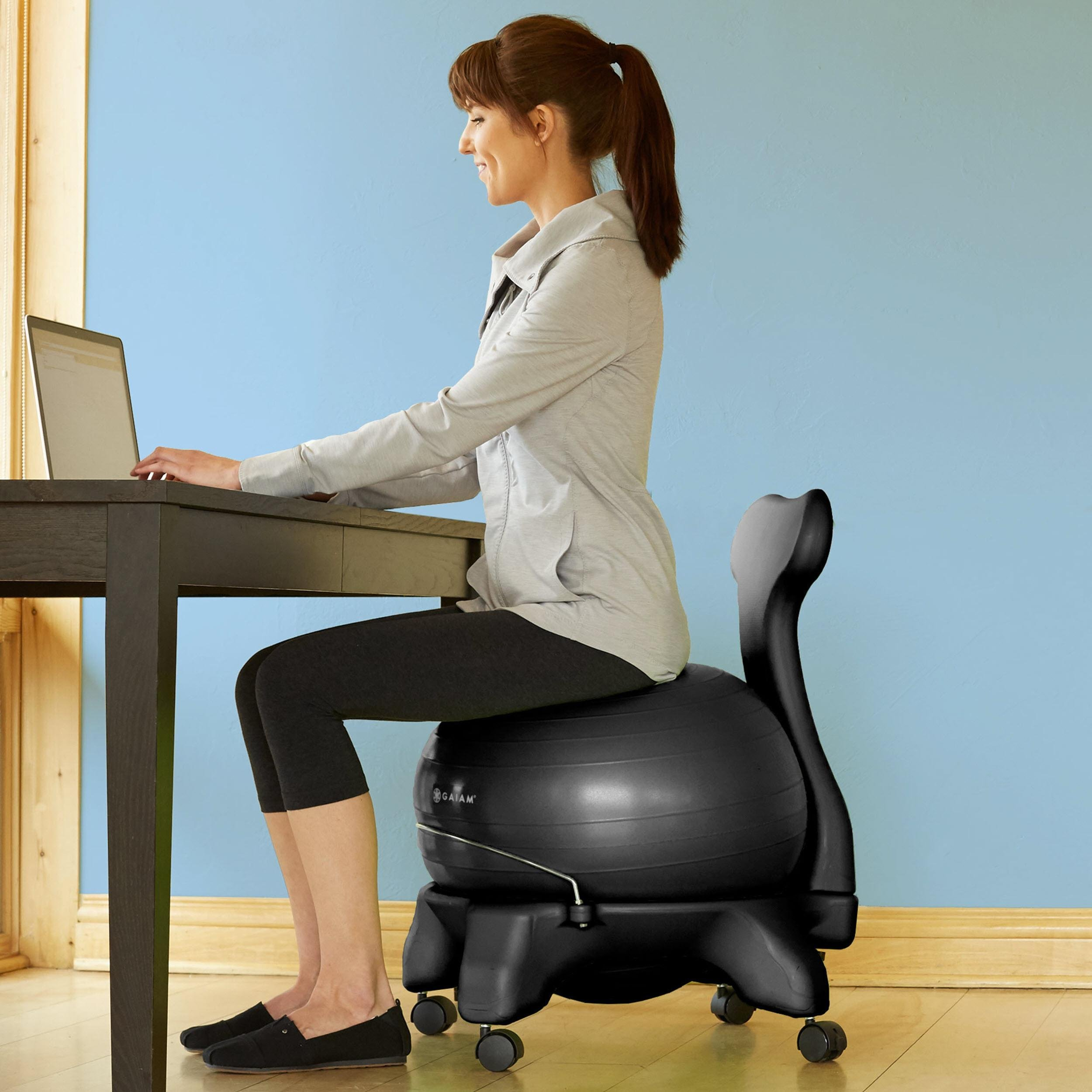 Amazon Com Gaiam Balance Ball Chair Exercise Stability
