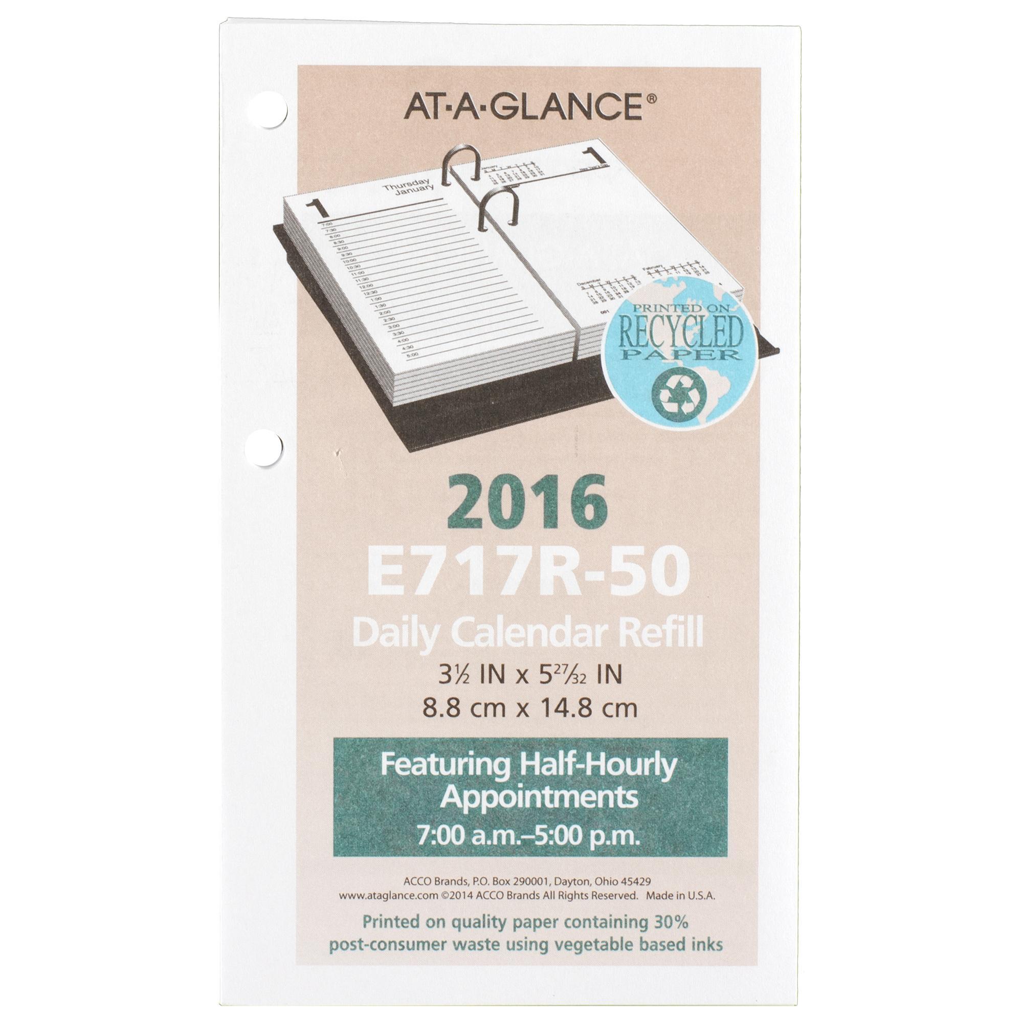 amazon com at a glance daily desk calendar 2016 refill 12 months