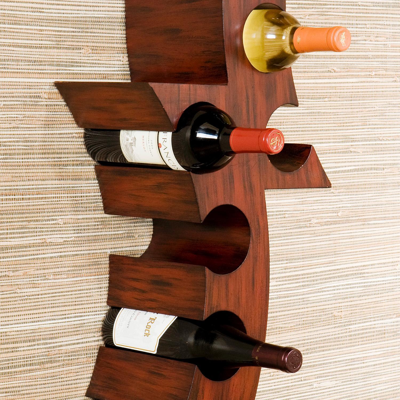 view larger amazoncom sei calabria wall mount wine rack kitchen u0026