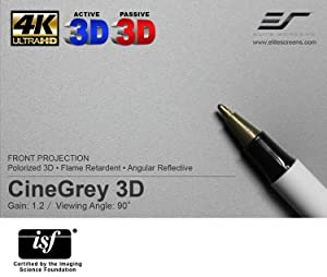 cinegrey 5d, 3d screen material, projection screen material,
