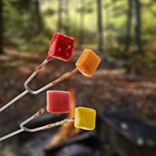 A great camping treat, enjoy fire roasted Starburt Fruit Chews.