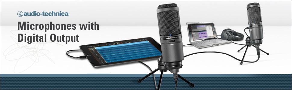 microphones with digital output, usb microphone, usb mics, microphones, podcast microphone