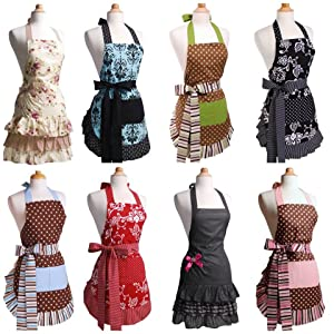 Flirty aprons women 39 s sadie sugar n 39 spice apron home kitchen for Apron designs and kitchen apron styles