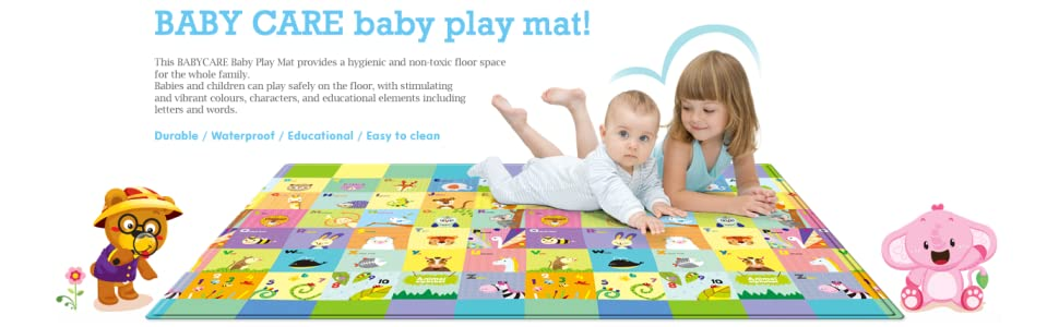 Amazon Com Baby Care Play Mat Foam Floor Gym Non Toxic