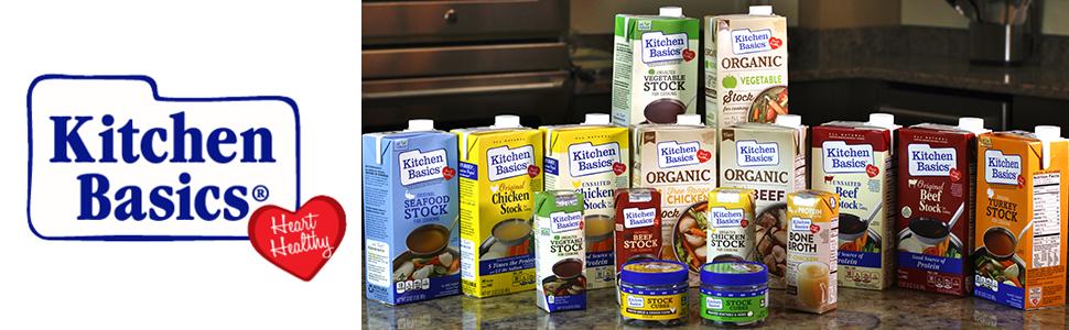 Amazon.com : Kitchen Basics UnSalted Stock, Chicken, 32 Ounce ...
