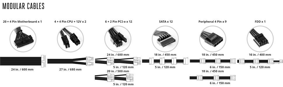 V1200 Modular Cables