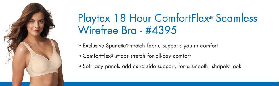 db385ee0f7 Playtex Women s 18 Hour Seamless Comfort-Flex Wire-Free Bra at ...