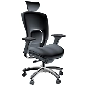 Ergolux Genuine Leather High-Back Executive Office Chair