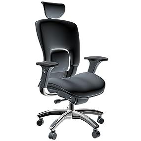 Ergolux Genuine Leather High-Back Executive Office Chair