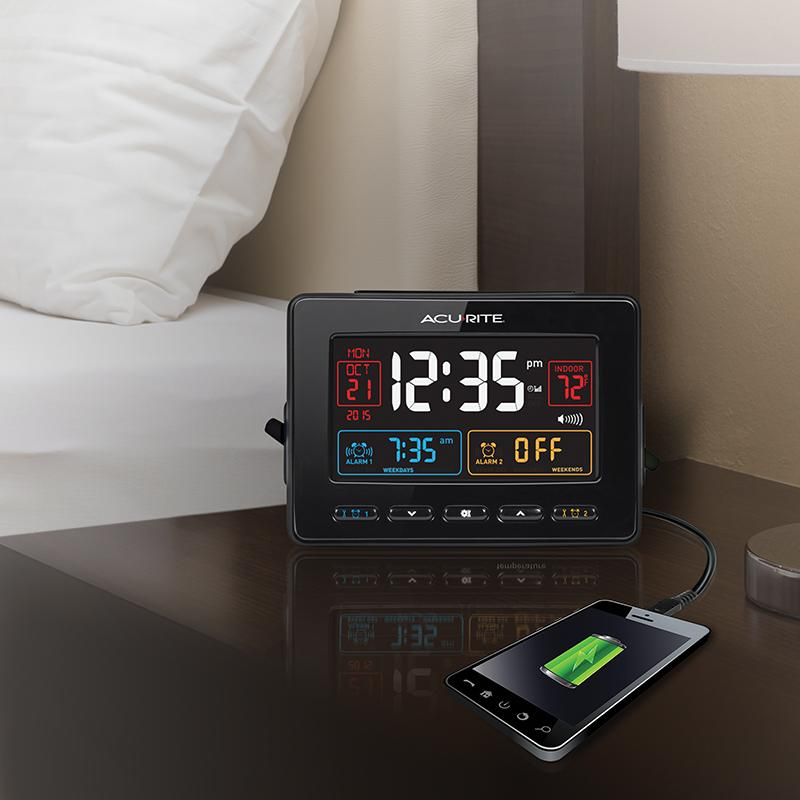 Amazon AcuRite Atomic Dual Alarm Clock with USB