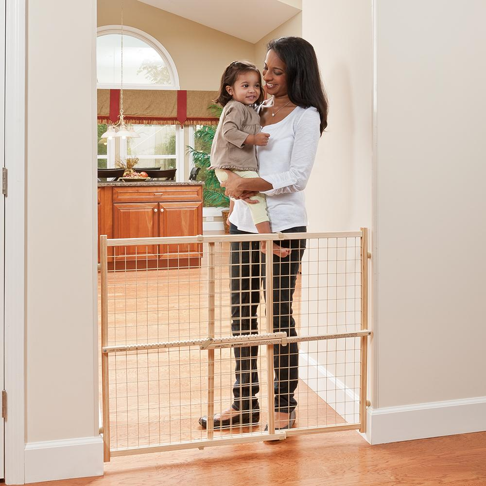 amazoncom  evenflo position and lock tall pressure mount wood  - evenflo gate baby gate wide and tall
