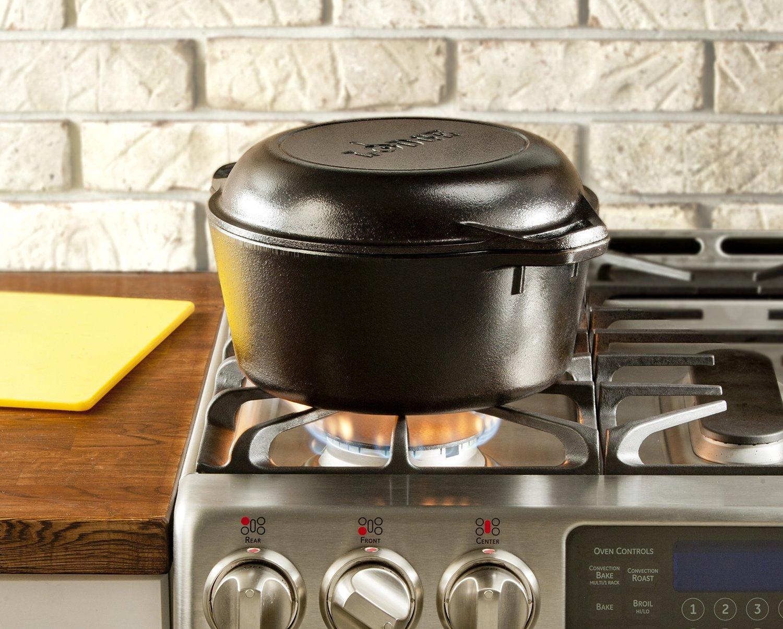 Amazon Com Lodge L8dd3 Cast Iron Double Dutch Oven 5