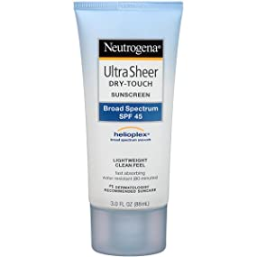 NEUTROGENA ULTRA SHEER Sunscreen Lotion SPF 45 Twin Pack