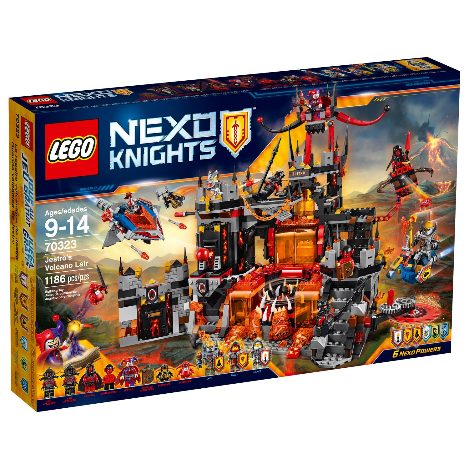 Toys And Games Com : Amazon lego nexo knights jestro s volcano lair