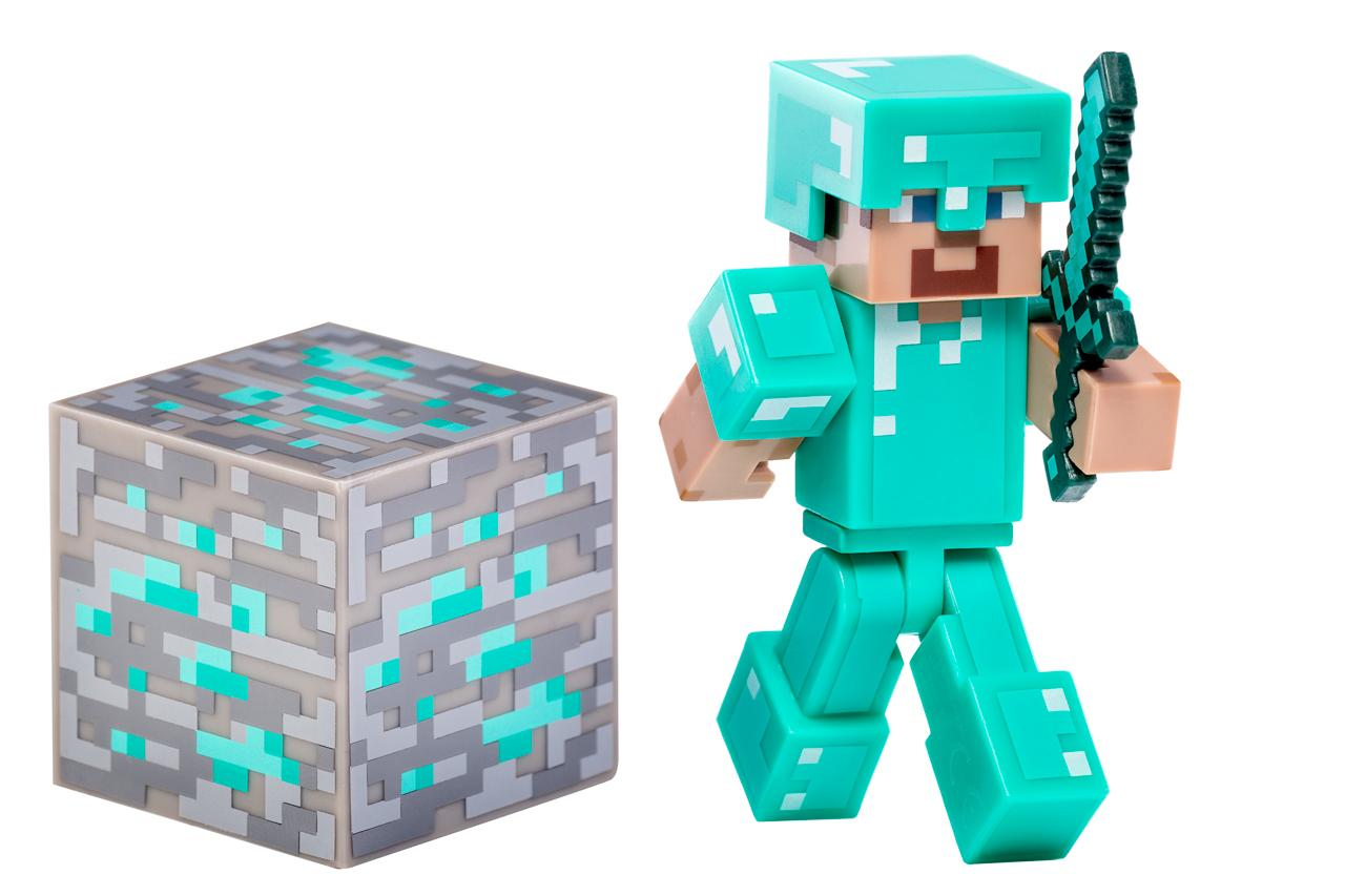 Amazon.com: Minecraft Diamond Steve Action Figure: Toys & Games