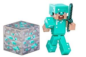 Minecraft Steve with Diamond Armor Action Figure