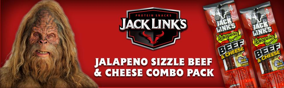 Jack Link's Combo Pack Jalapeno Sizzle Beef and Cheese