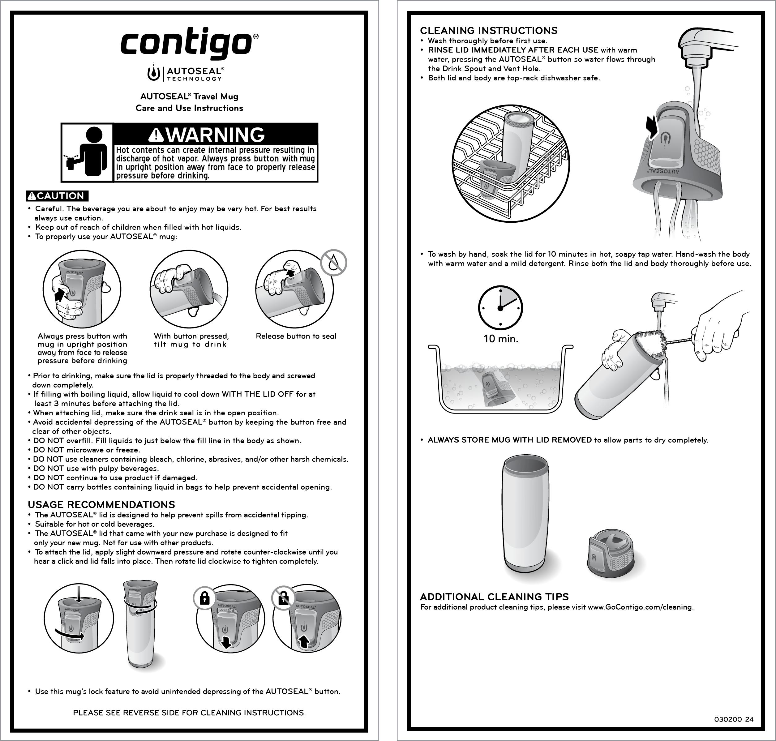 Stainless Steel Travel Mug, 16-Ounce: Vasos Contigo: Kitchen & Dining