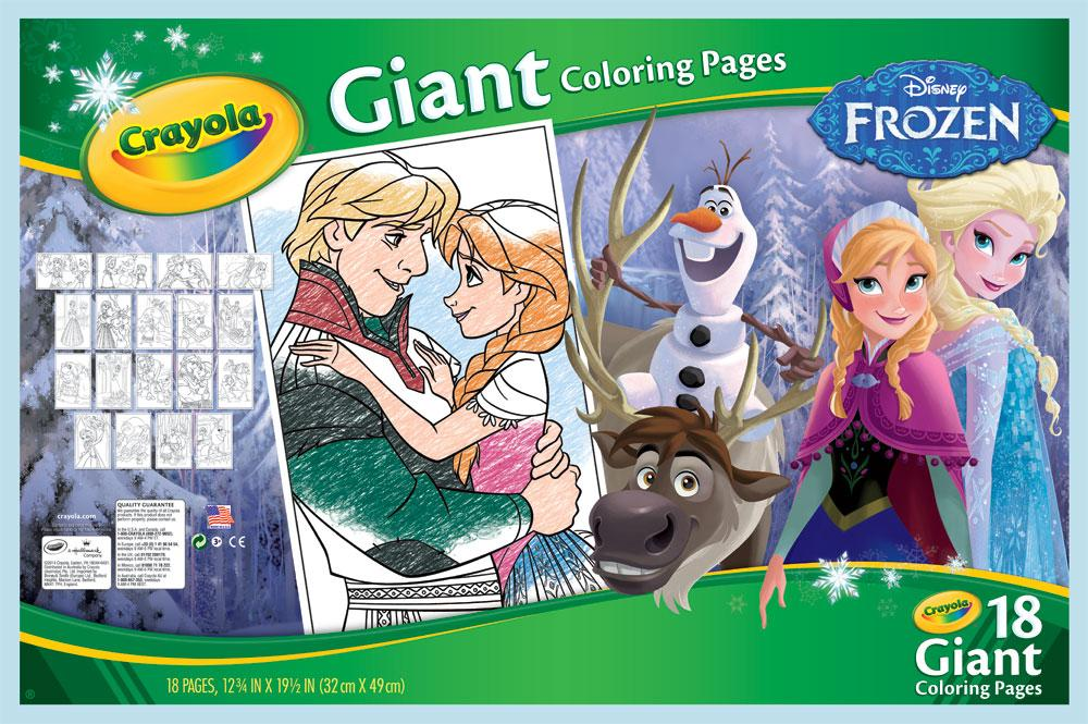 Amazon.com: Crayola Frozen Giant Coloring Pages: Toys & Games