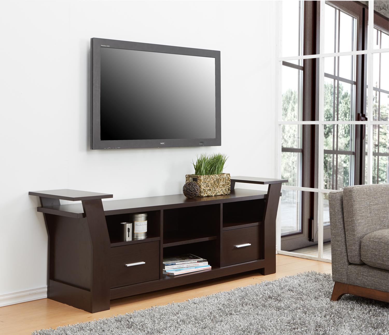 Amazon Com Iohomes Torena Multi Storage Tv Stand Black And White