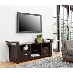 Enitial Lab Torena Multi-Storage TV Stand, Cherry - Media Storage