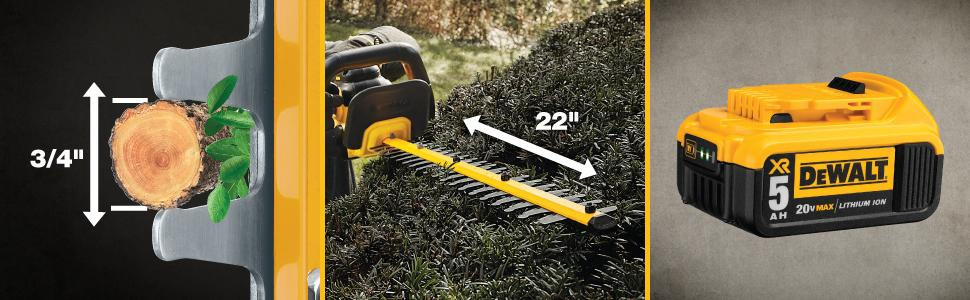 Amazon Com Dewalt Dcht820b 20 V Max Hedge Trimmer