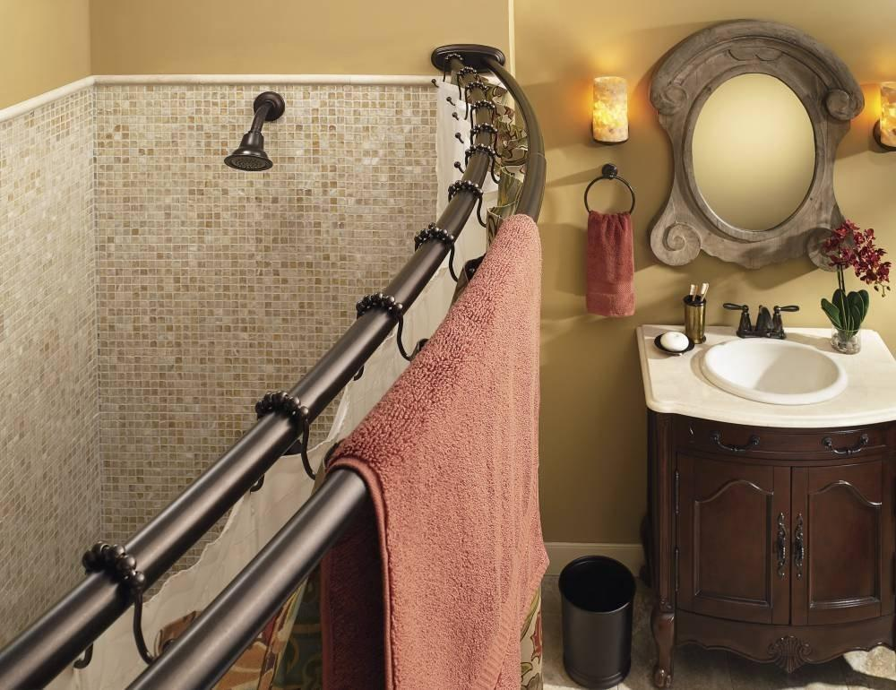 Moen Adjustable Double Curved Shower Rod Offers Exceptional Strength And Stability