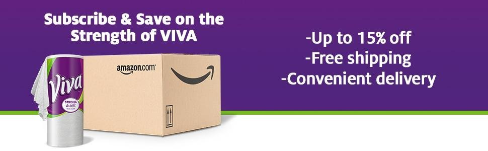 Viva Paper Towels subscription with Amazon Subscribe & Save offers savings and convenient delivery.