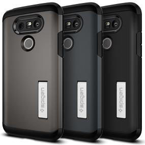 promo code 8f134 bf04a Amazon.com: Spigen Tough Armor LG G5 Case with Extreme Heavy Duty ...
