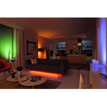 living room; colors; bloom; lightstrip; hue