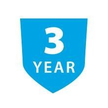 3 year warranty and lifetime of customer care