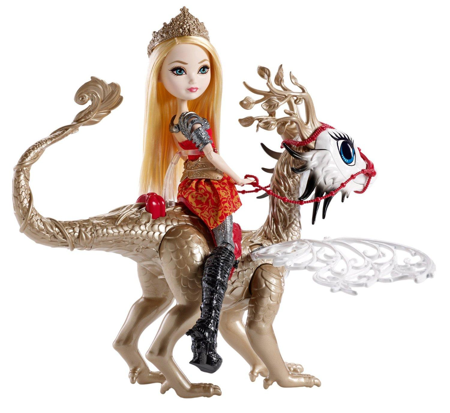 High Dragon Games Apple White Doll and Braebyrn Dragon: Toys & Games