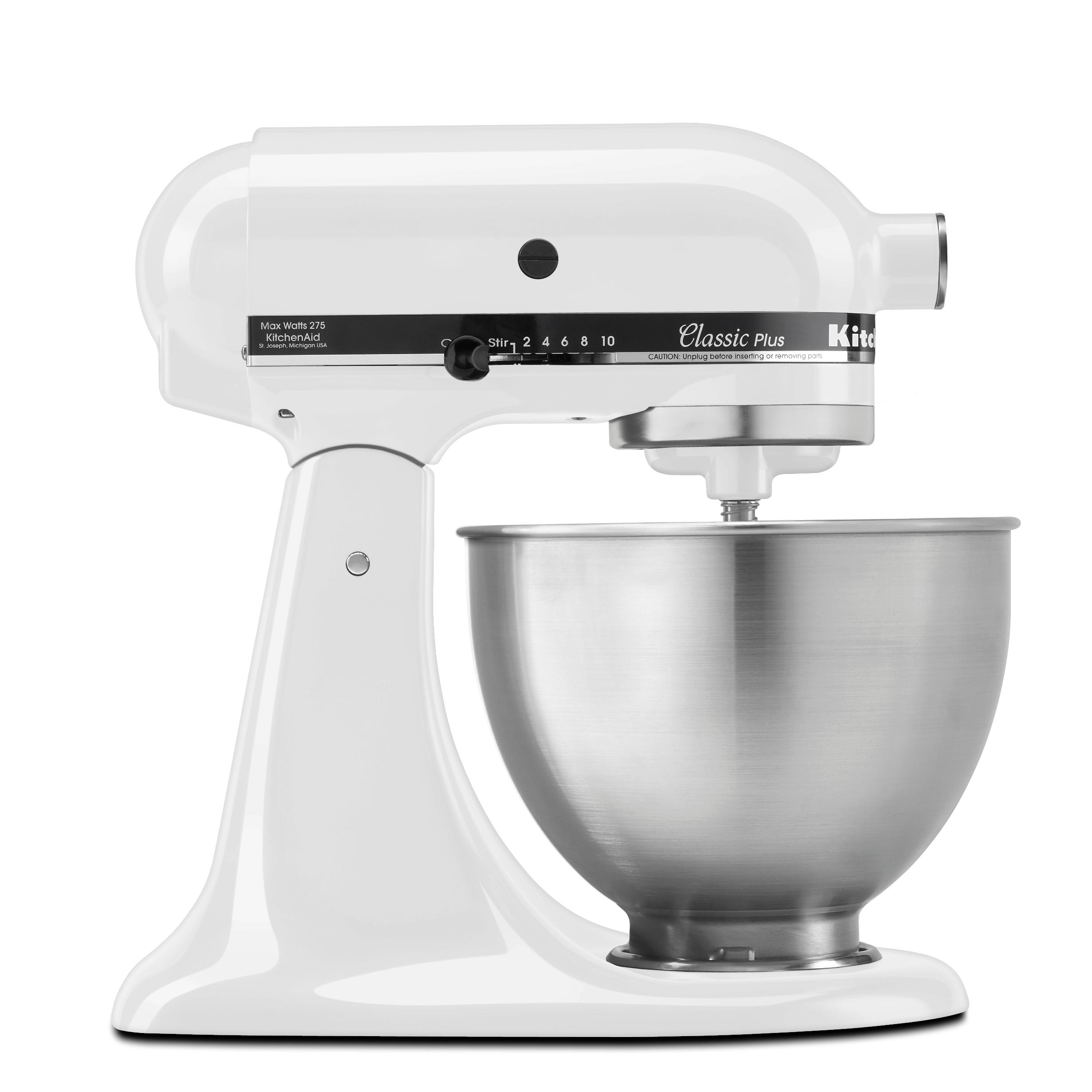 kitchenaid ksm75wh classic plus series 4 5 quart tilt head stand mixer white. Black Bedroom Furniture Sets. Home Design Ideas