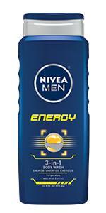 shower gel, energy, NIVEA MEN