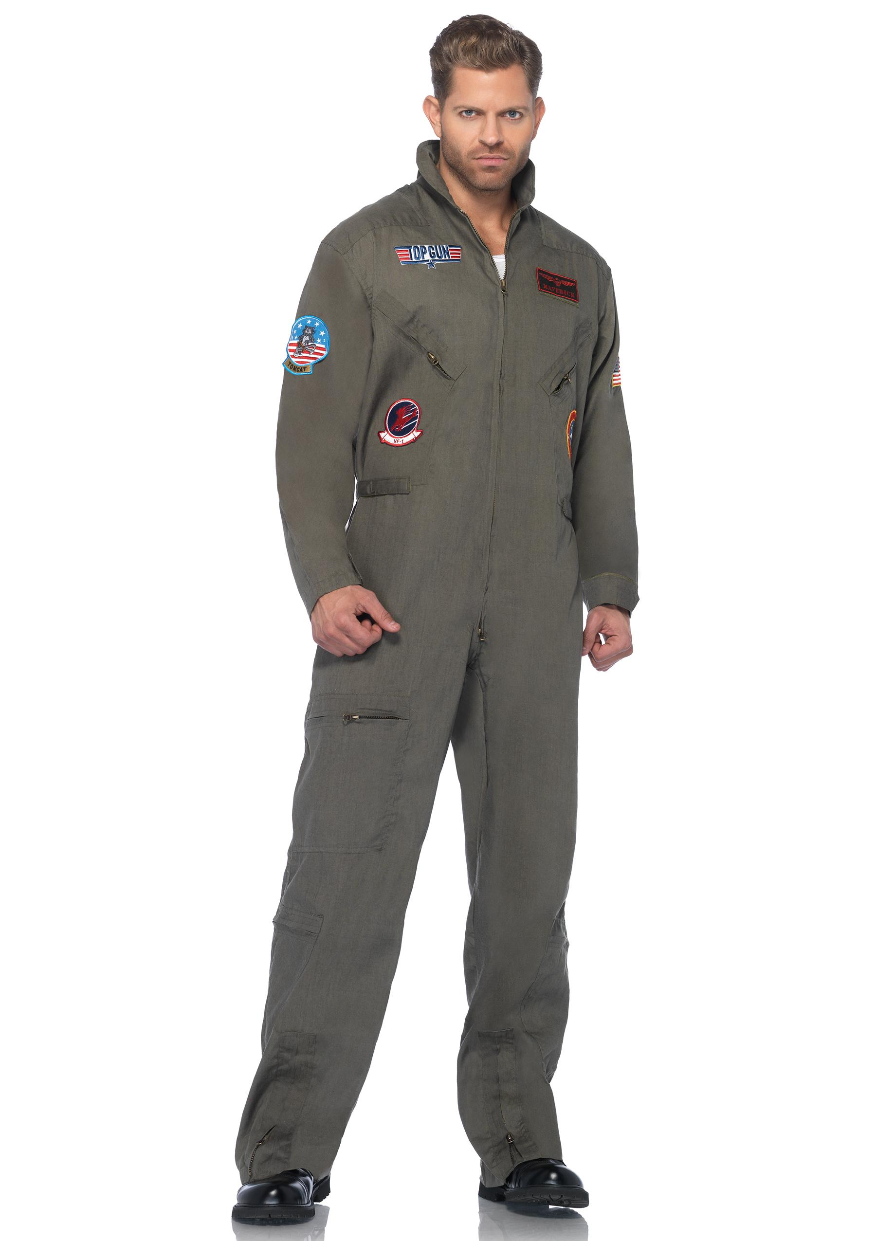 amazoncom top gun mens flight suit adult costume clothing amazon com top gun mens flight suit adult costume clothing - Amazon Halloween Costumes Men