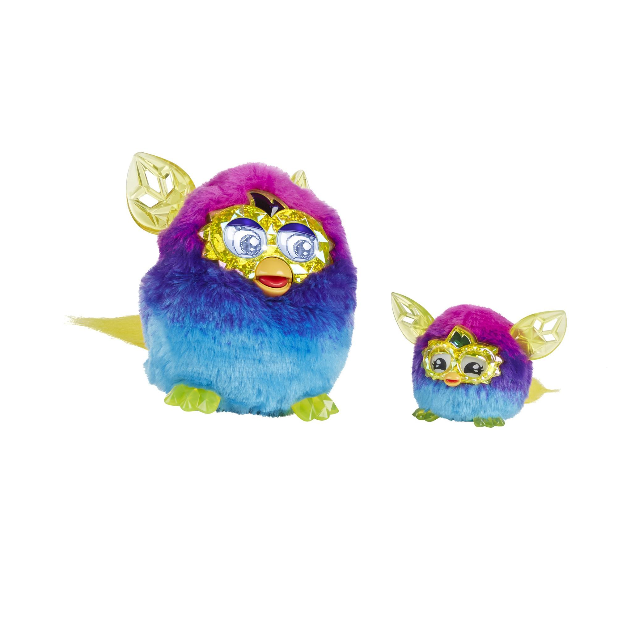 furby furblings creature plush crystal series pinkblue