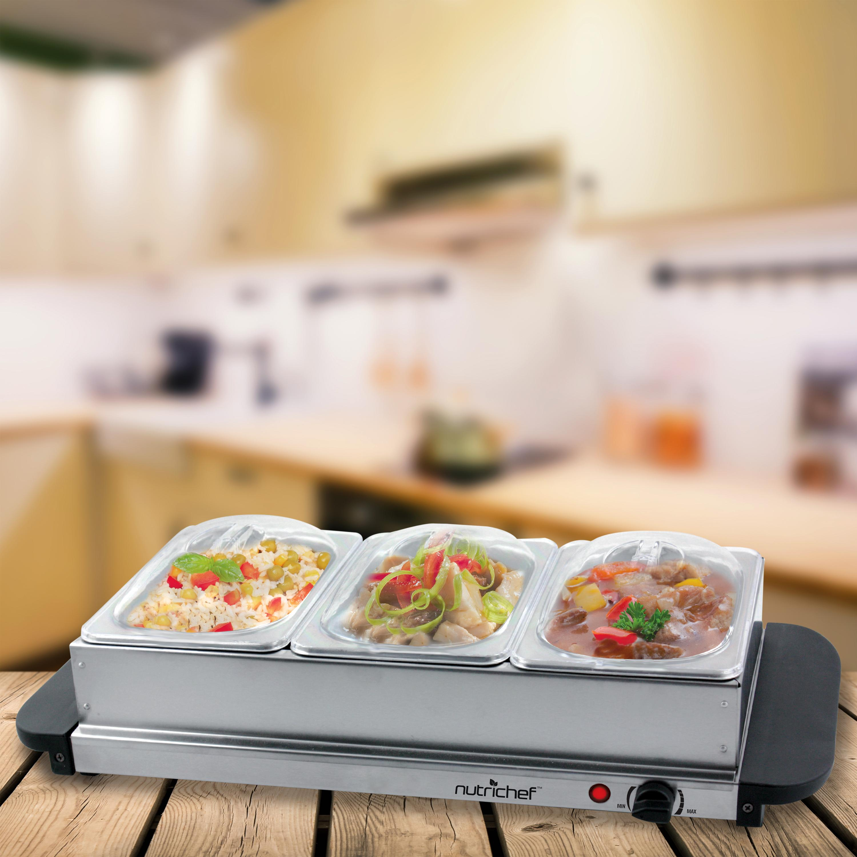 Amazon.com: NutriChef 3 Tray Buffet Server & Hot Plate