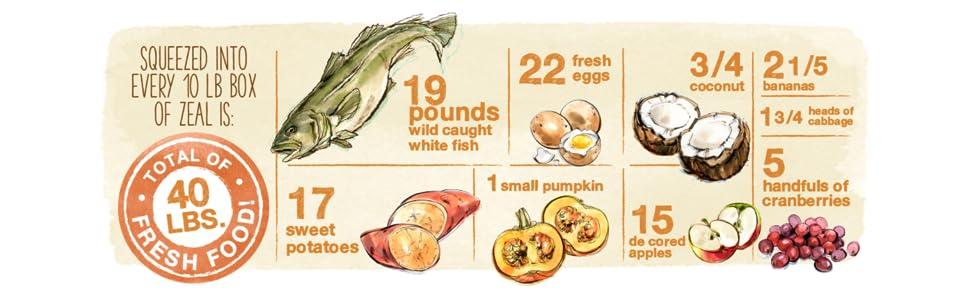 zeal dog food, fish dog food, dehydrated dog food, grain free dog food, healthy dog food, natural