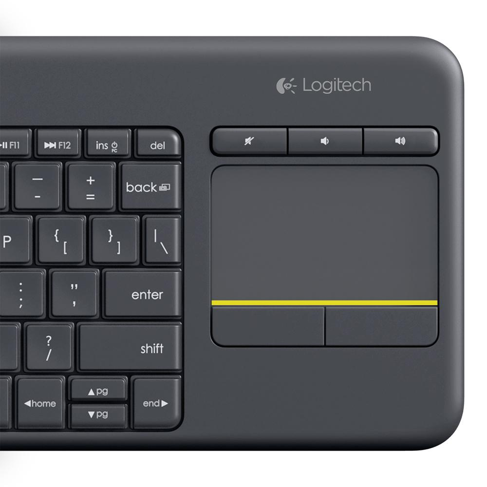 Amazon.com: Logitech K400 920-007119 Plus Wireless Touch Keyboard With Keyboard For TV Connected