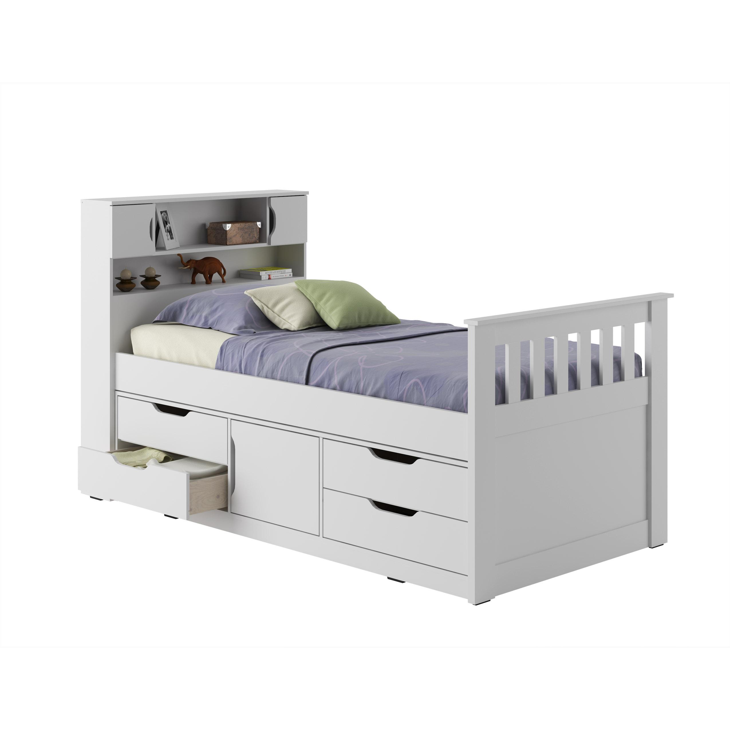 Details About White 3 Piece Storage Drawers Twin Bed Box: Amazon.com: CorLiving BMG-110-B Madison Bed, Twin/Single