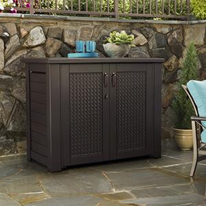 Amazon Com Rubbermaid Patio Chic Cabinet Garden Amp Outdoor