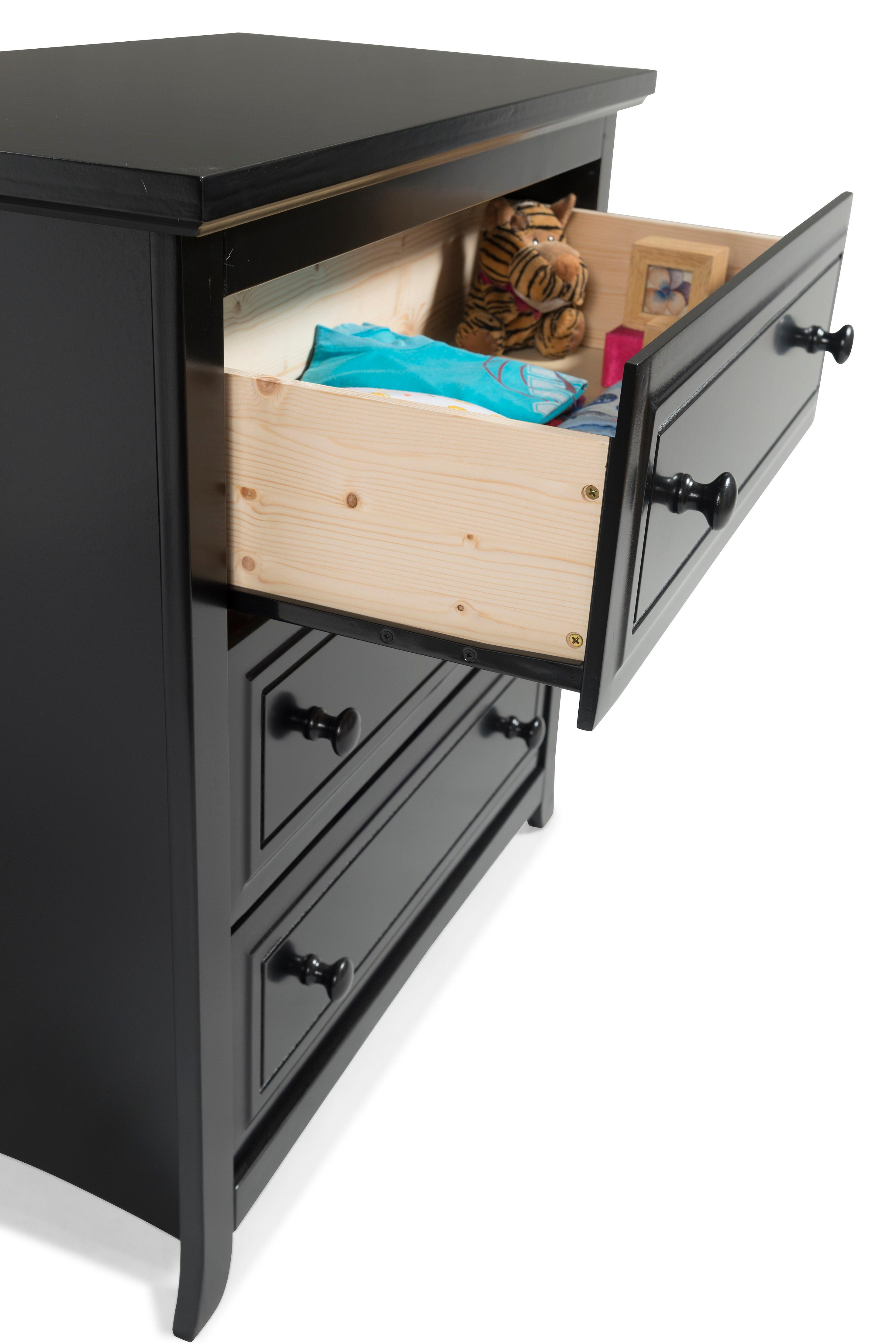 Amazon.com : Graco Kendall 3 Drawer Chest, Black, Kids