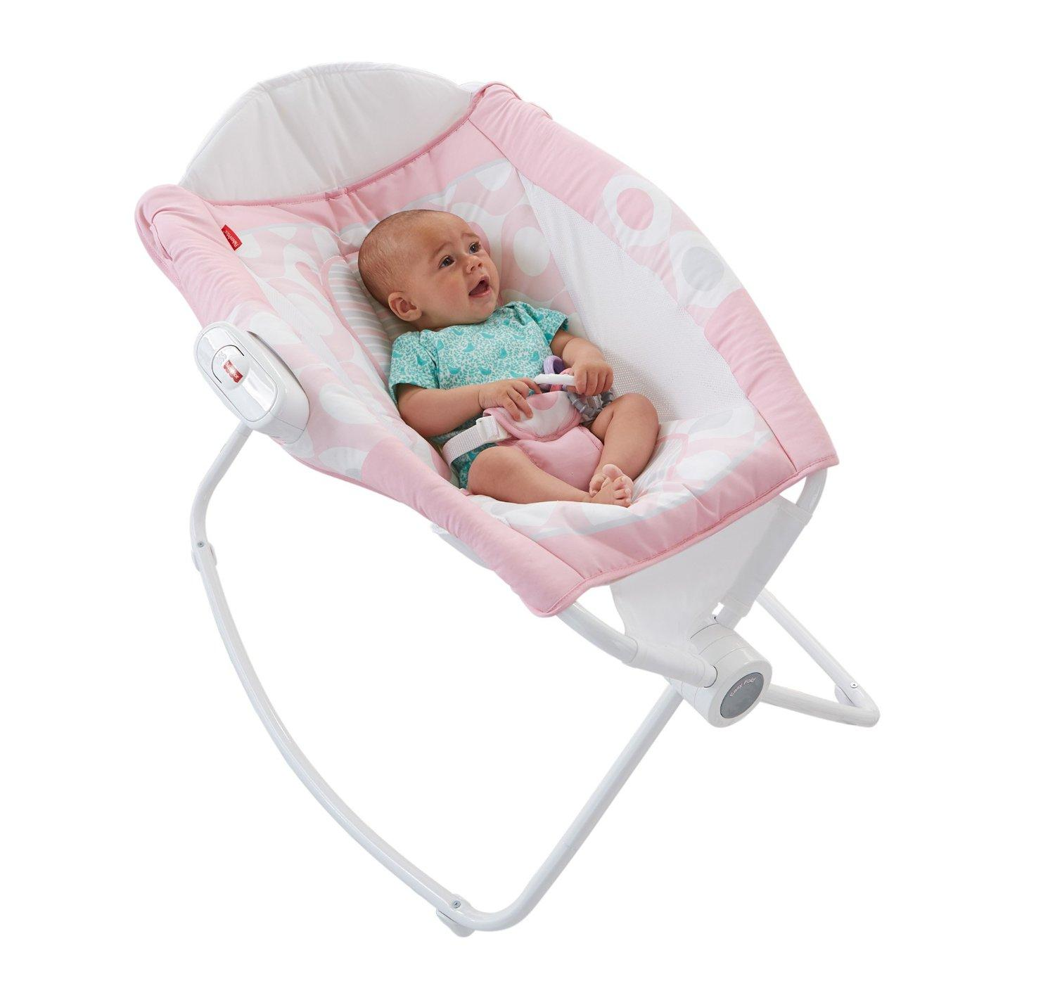 fisher price rock 39 n play sleeper pink ellipse pink white baby. Black Bedroom Furniture Sets. Home Design Ideas
