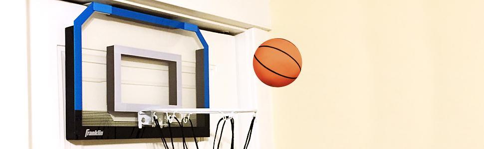 Amazon.com : Franklin Sports Over the Door Mini-Basketball Hoop ...