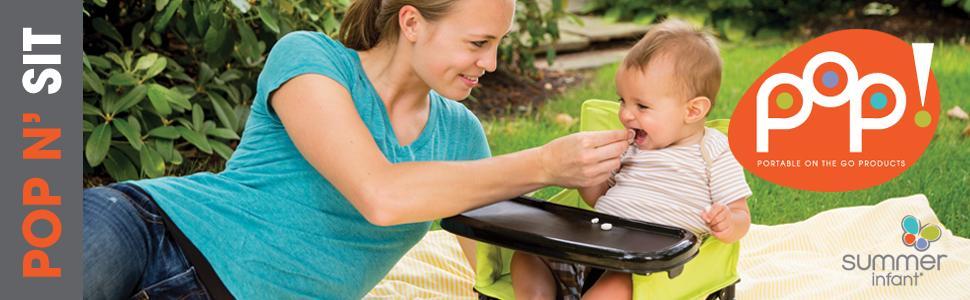 Amazon.com : Summer Infant Pop N\u0026#39; Sit Portable Booster : Baby