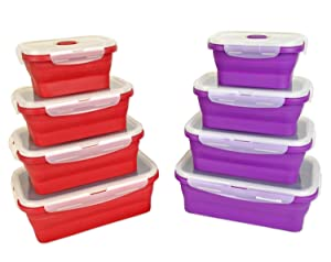 Amazoncom DII Silicone Collapsible Airtight Food Storage