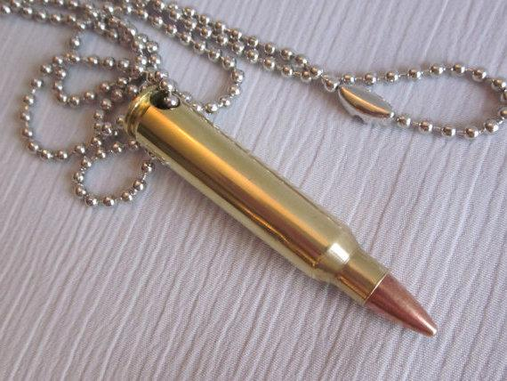 Amazon cobrabraid real 223 bullet necklace on 24 inch nickel view larger aloadofball Images