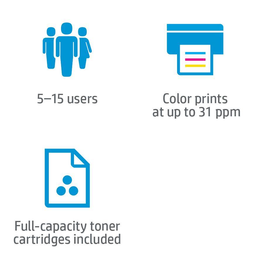 amazon com hp laserjet pro 500 color mfp m570dn printer cz271a