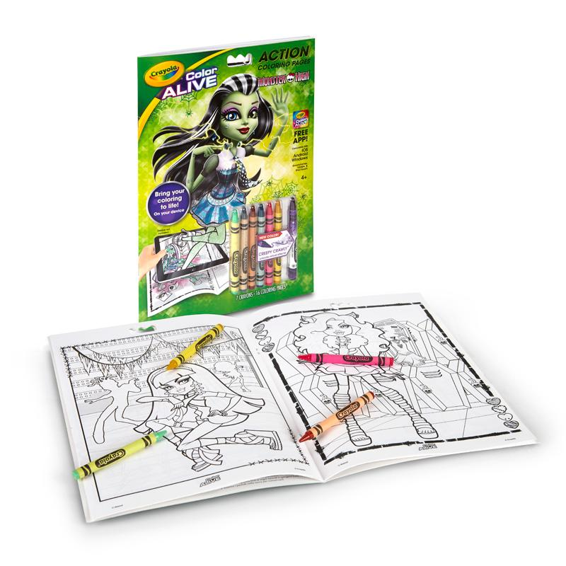 Amazon.com: Crayola Color Alive - Monster High: Toys & Games